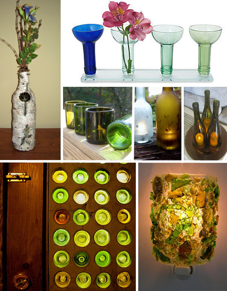how to transform old wine and beer bottles into other