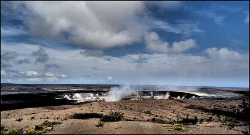 Halema'uma'u Caldera at Kilauea