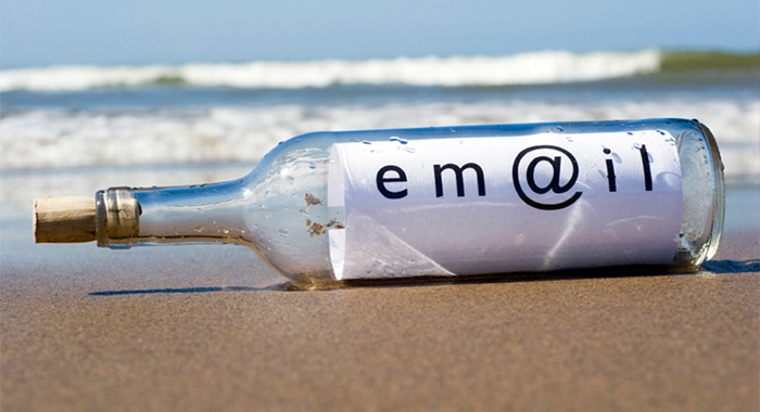 email marketing in a bottle