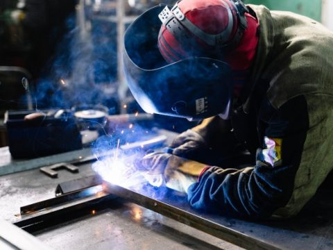 Welder using welding equipment