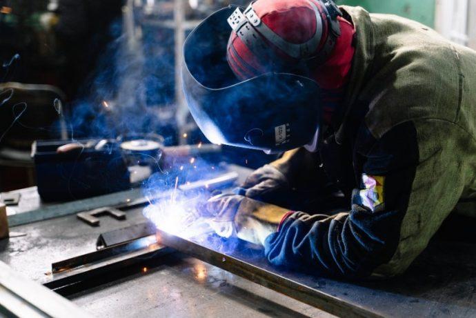 Welder using welding equipment